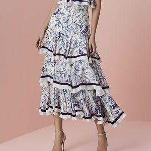 Hemant & Nandita - Silk Ruffled Maxi Skirt